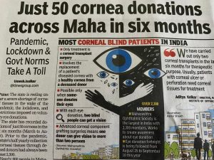 Just 50 Cornea donations across Maha in six months